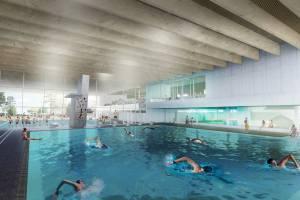 Плавательный бассейн «Wasserland» в Бонне (Доттендорф)/Германия