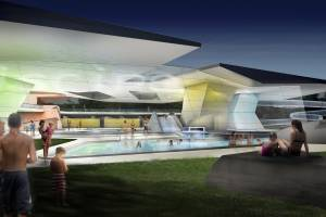 Competition  recreational baths in  Mondorf-les-Bains/LUX