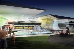 Wettbewerb Freizeitbad in Mondorf-les-Bains/LUX
