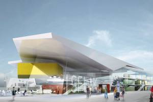 Главный комплекс для плавания и прыжков с вышки в Бергене/Норвегия