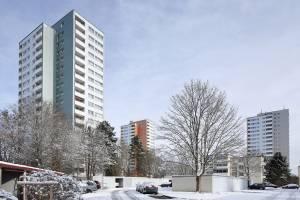 Wohnhochhäuser in Ulm/DE